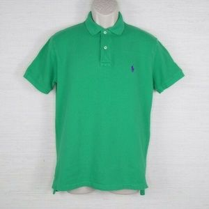 Polo Ralph Lauren Mens Solid Green Short Sleeve Po